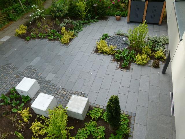 moderner offener vorgarten contemporary landscape - Offener Vorgarten