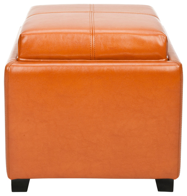 Ottomans Lifestyle Single Ottoman: Safavieh Harrison Single Tray Ottoman