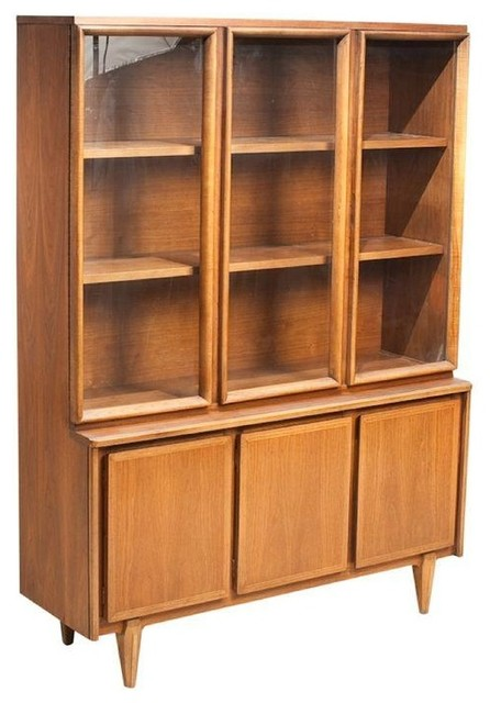 Mid-Century American of Martinsville Walnut Hutch - Modern - China Cabinets And Hutches - by ...