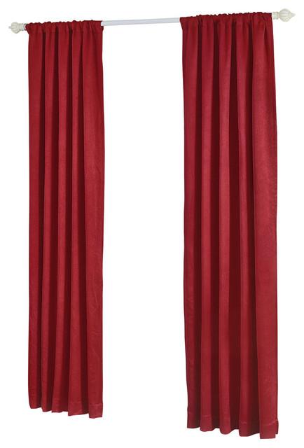 Madison Crushed Drapes Curtain Set, Burgundy.