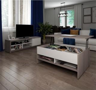 Bestar Small Space Premium 2-Piece Coffee Table Set