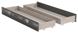Fabric 2 Side Underbed Storage Drawers