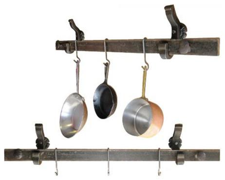 Rail Anchor Pot And Pan Rack Wall Mounted