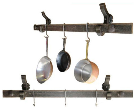 wallmounted rail pot and pan rack
