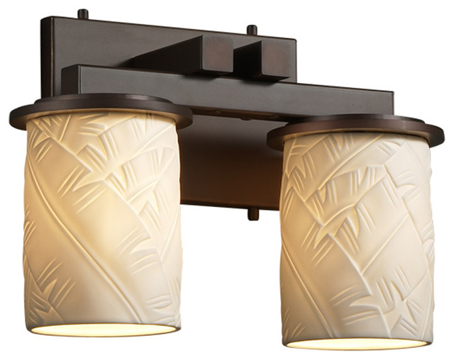 Tropical Bathroom Vanity Lights : Justice Design Por-8772-10 Dakota 2-Light Straight-Bar Bath Bar - Tropical - Bathroom Vanity ...