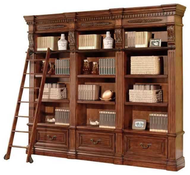 Grand Manor Granada Museum Bookcase, 3-Piece Set