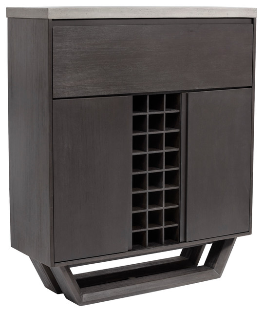 Langley Wine Cabinet - Contemporary - Wine And Bar Cabinets - by Sunpan Modern Home