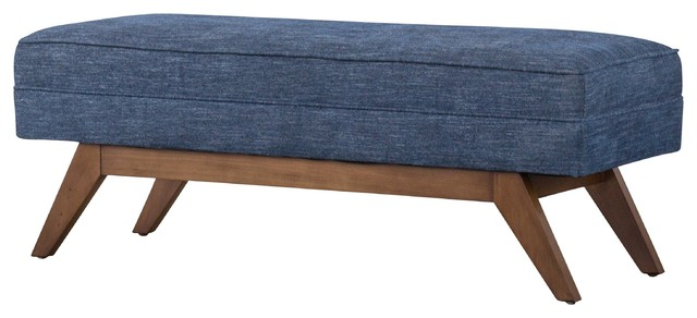 Outstanding Newton Fabric Bench Blue Coast Andrewgaddart Wooden Chair Designs For Living Room Andrewgaddartcom
