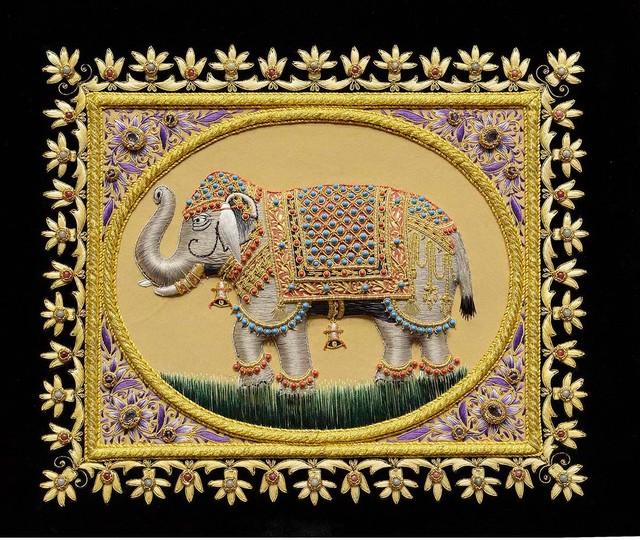 Elephant Wall Art Decorative Panels Jewel Art Tapestry, 20x17 ...