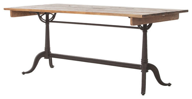Guy Rustic French Reclaimed Wood Iron Dining Table traditional dining tables. Guy Rustic French Reclaimed Wood Iron Dining Table   Traditional