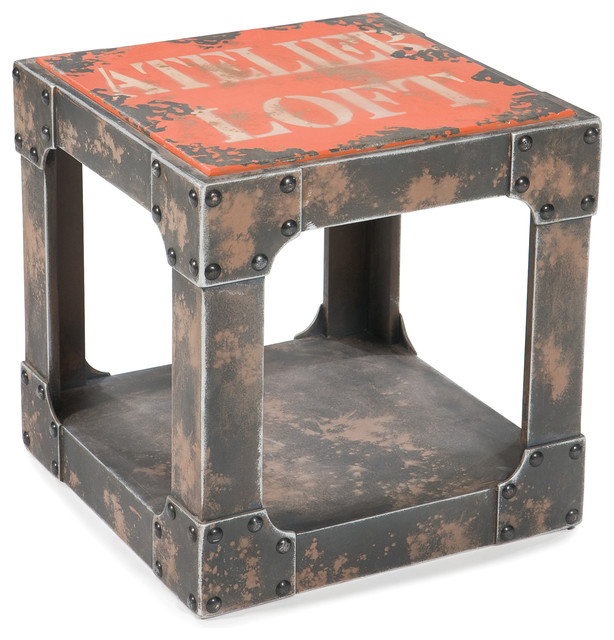 Shop Houzz Moe S Home Collection Loft Sidetable Side