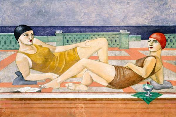 "The Bathers Fine Art Giant Canvas Print 72""x48""."