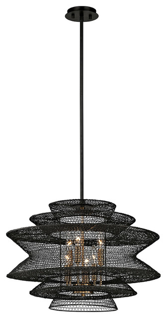 Troy Lighting Kokoro 6-Light Pendant, Kokoro Bronze.