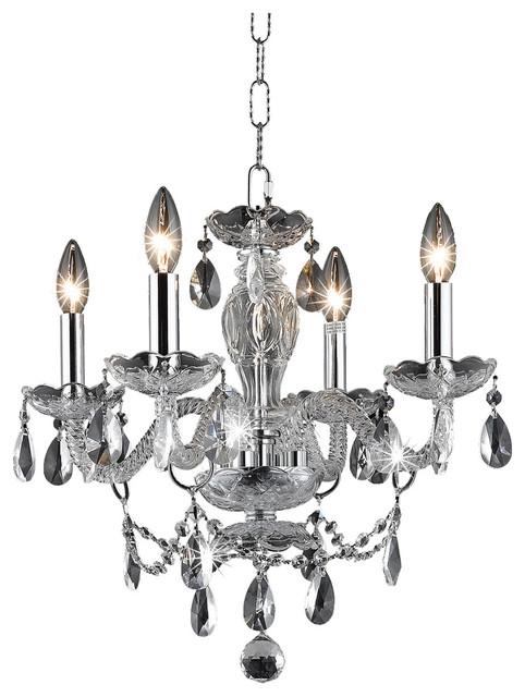 Royal Cut Clear Crystal Princeton 4-Light