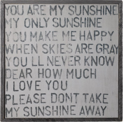You Are My Sunshine Wall Decor canvas print you are my sunshine - thesecretconsul