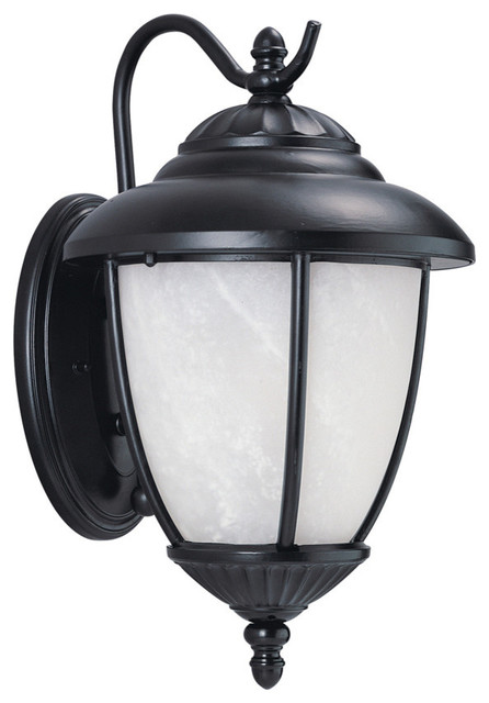 Seagull Lighting 84049 12 Yorktown Outdoor Fixture Black