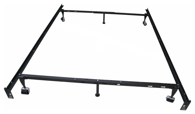 khome 6 leg super duty adjustable metal bed frame queenfullfull - Adjustable Queen Bed Frame