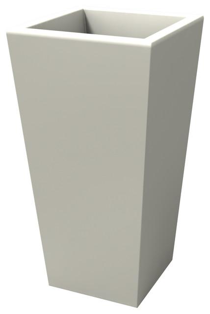 Egizio Planter, White, Smooth, Large