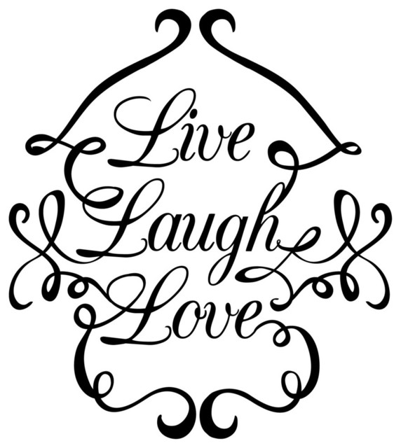 Live Love Laugh Swirls Wall Decal  sc 1 st  Houzz & Live Love Laugh Swirls Wall Decal - Contemporary - Wall Decals - by ...