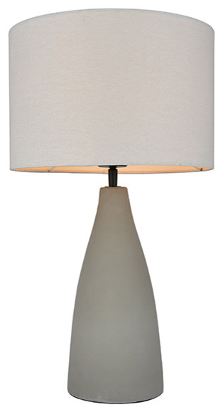 Zoey Ciment Table Lamp, Grey, Modern, Concrete.