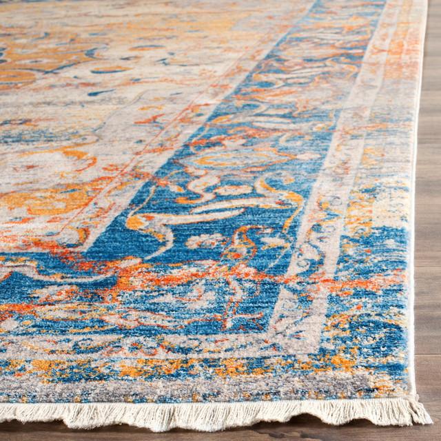 Safavieh Vintage Persian Vtp435b Blue Multi 2 X12 Rug