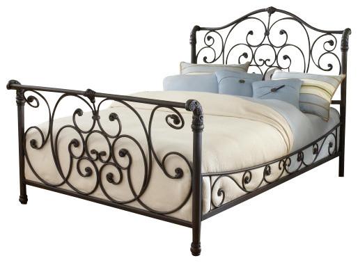 Hillsdale Furniture Hillsdale 1579bkr Mandalay King Sleigh Bed Set Old Rustic Brown Bedroom