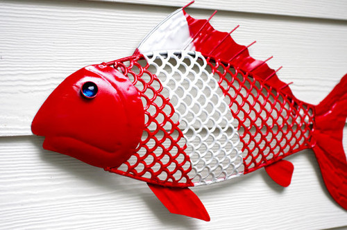 Beach Wall Decor Metal Fish for the Scuba by beautifuldetailswed