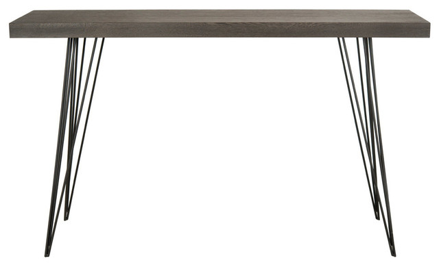 Safavieh Wolcott Lacquer Console, Dark Brown And Black.