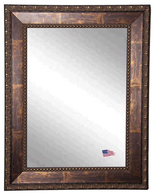 "Bewdley Copper Bronze Wall Mirror, 33""x39""."