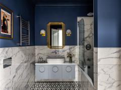 Проект недели Элегантная ванная с хозяйственным блоком (5 photos)