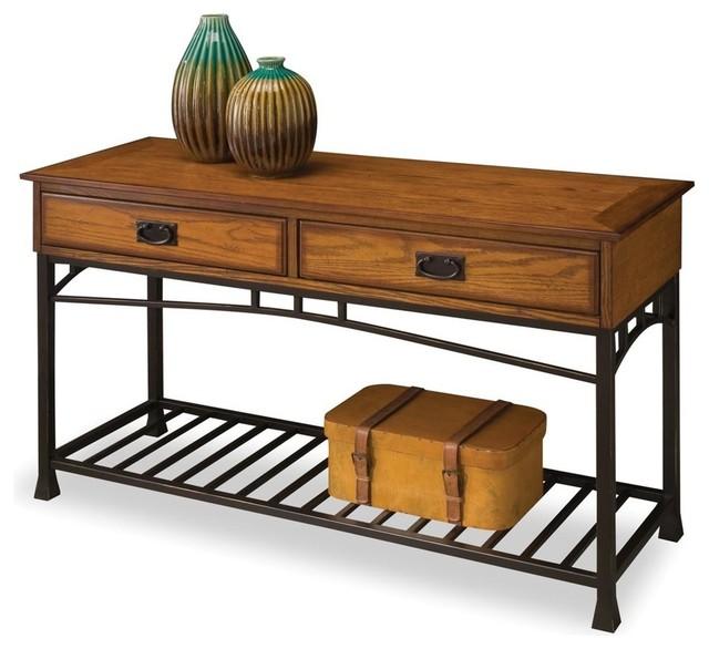 Capistrano Console Table, Distressed Oak