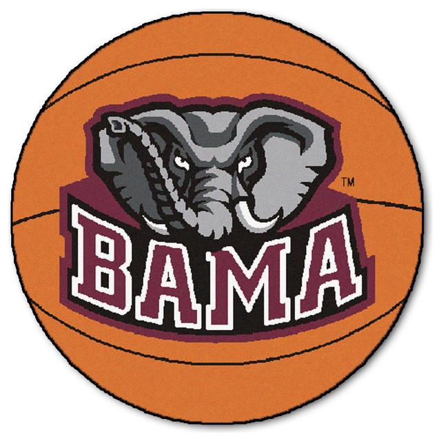 Large Basketball Area Rug: Bama Big Al Basketball Area Rug
