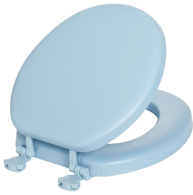 Bemis Mayfair Mayfair 13EC 000 Lift Off Cushioned Vinyl Round Toilet Seat T