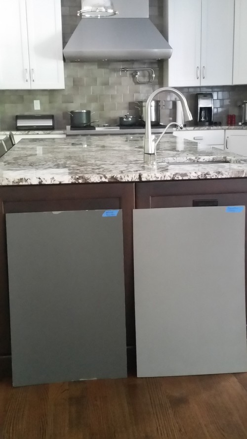 Help Pick Color For Kitchen Island - Gray kitchen island colors