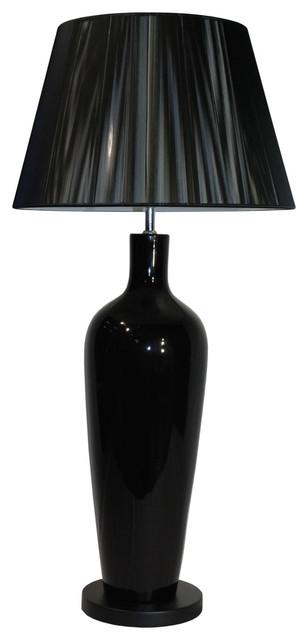 Monza Ceramic Table Lamp, Black