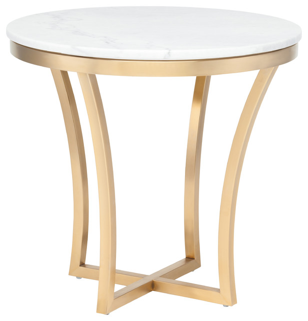 Aurora Side Table, Gold