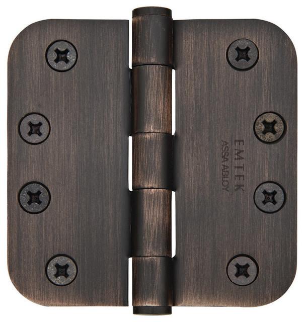 Emtek 4 Inch Steel Heavy Duty Door Hinges with 5/8 Inch Round ...