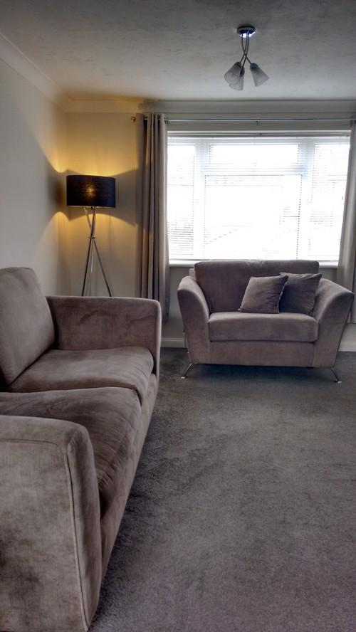 Grey Carpet Taupe Sofa