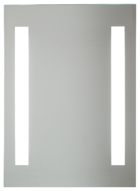 Rectangular Fluorescent Lighted Mirror Modern Bathroom Mirrors