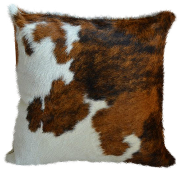 Southwestern Throw Pillow Covers : Pergamino Tricolor Cowhide Pillow Covers - Southwestern - Decorative Pillows - by Pergamino