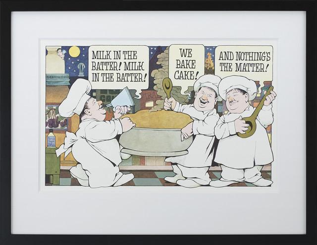 """milk In The Batter"" By Maurice Sendak Framed Art Print, Special Edition."
