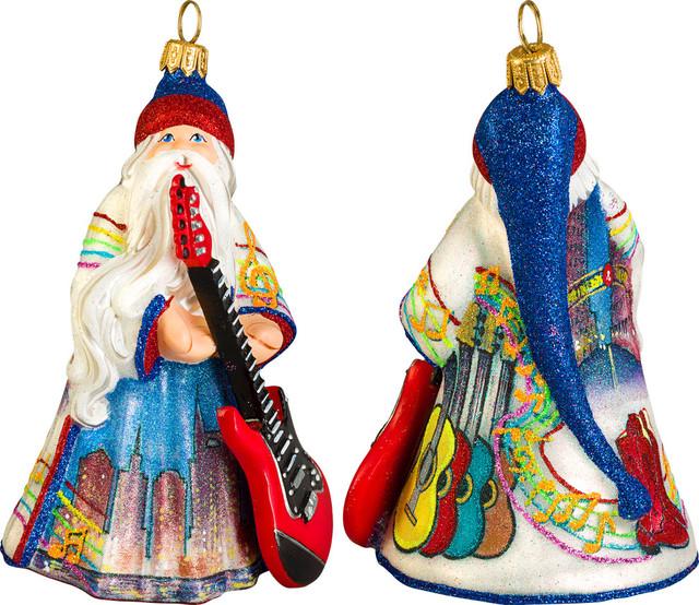 Glitterazzi Nashville Santa Ornament