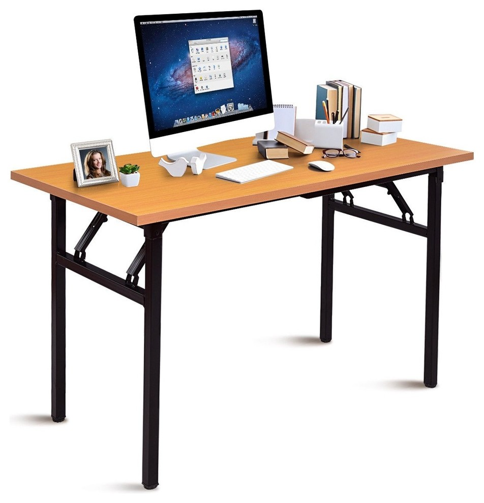 Modern Folding Writing Workstation PC Laptop Table