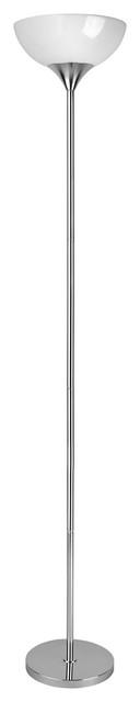 Zett 1-Light Floor Lamps, Chrome.