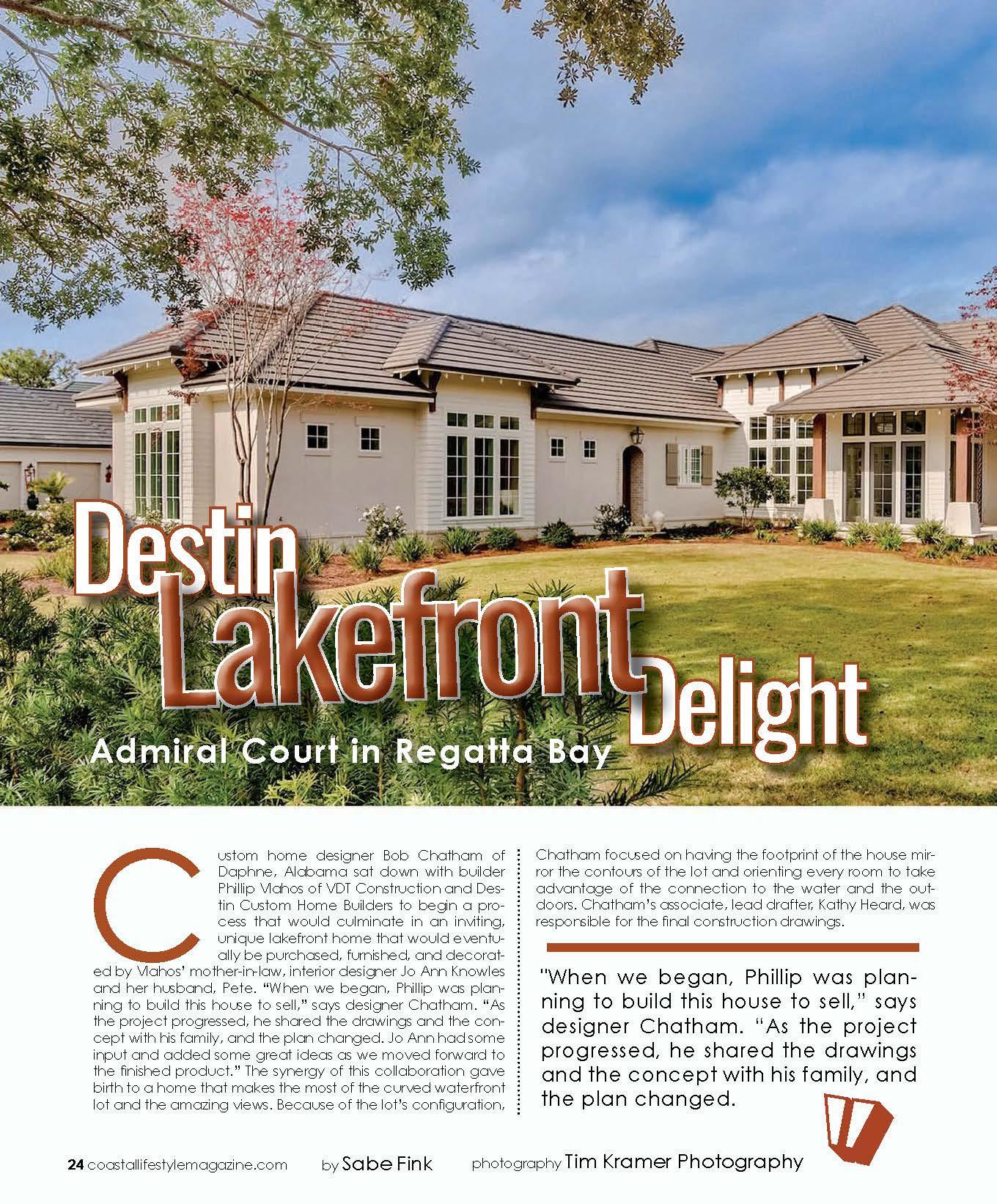 Coastal Lifestyle article of Destin Delight