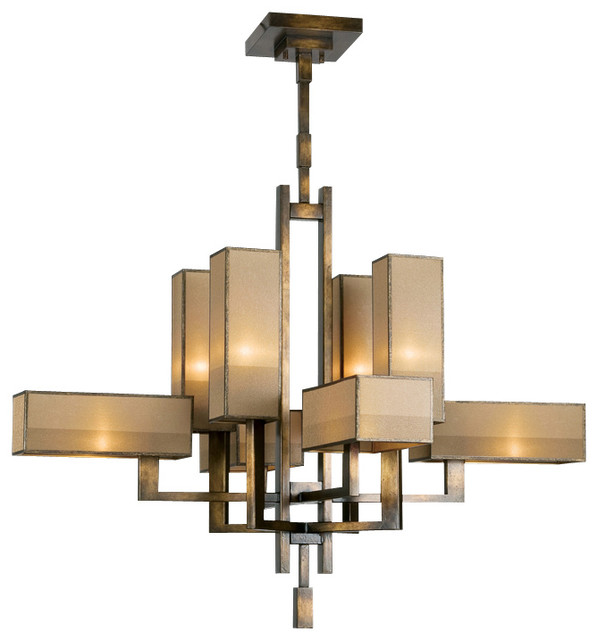 Fine Art Lamps Perspectives Chandelier 733840 Contemporary – Chandelier Bronze