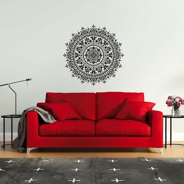 Mandala Stencil Prosperity Trendy Easy Diy Wall Stencils For Home Decor 18