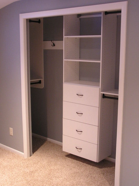 Perfect Guest Room Reach In Closet Traditional Closet