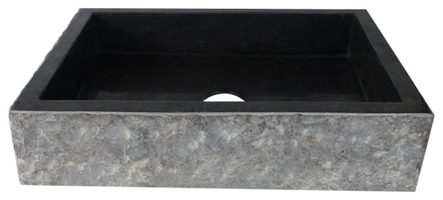 "Shallow Polished Marble Sink, 20""x14""."