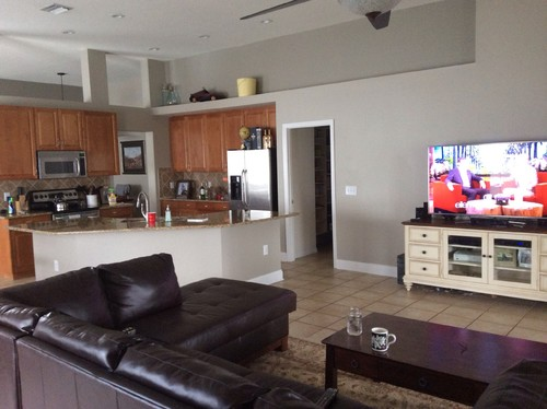 need help for our Grand living room/kitchen/ and breakfast ...